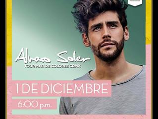 ¡Alvaro vendrá en concierto a México el 1 de diciembre!  ¡No te pierdas su concierto! Compra ahora y