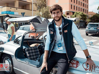 Alvaro drove an exclusive 300SL Ali Di Gabbiano for the project 1000 Miglia Charity last Thursday (1