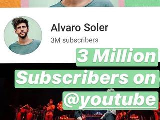 Congratulations Alvaro on having over 3 million subscribers on Youtube!