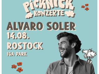 Don't miss Alvaro's German tour in August, with great concerts in Rostock (14/08) and Berlin (15/08)