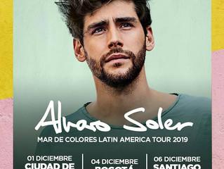 Alvaro anuncia su primer concierto en Colombia (04/12) en el marco de su gira internacional Mar de C