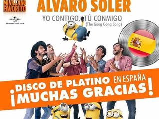 Alvaro's single Yo Contigo Tu Conmigo has become Platinum in Spain!