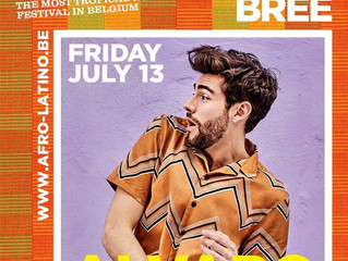 Don't miss Alvaro's concert at the Afro-Latino Festival in Bree on Friday July 13th! Hurry t