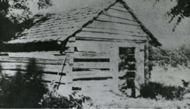 Photo of the (reputed) house of Nancy Hanks Lincoln, mother of Abraham Lincoln