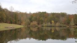 haw river lake in fall