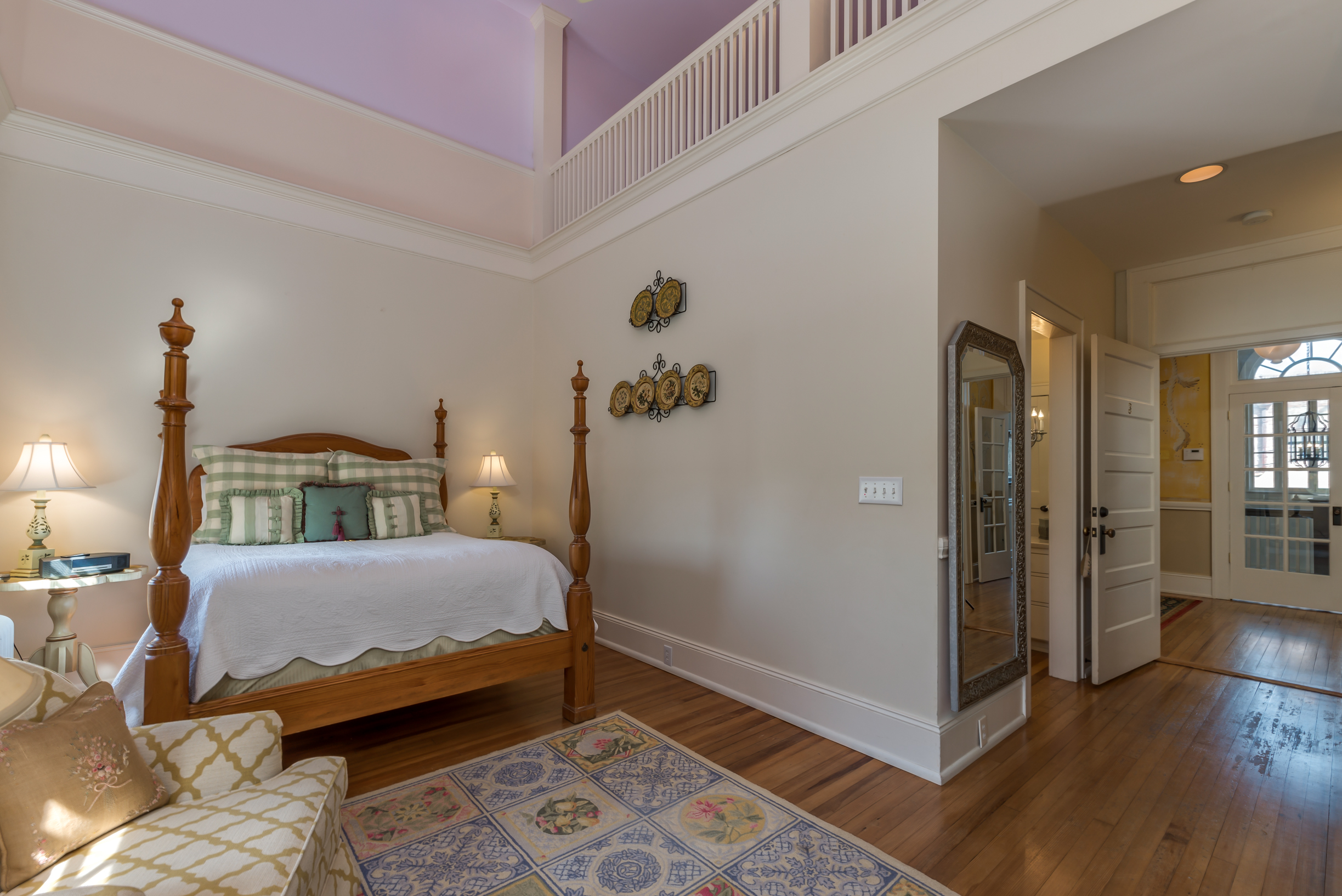 Purple Guest Room at Firehouse Inn