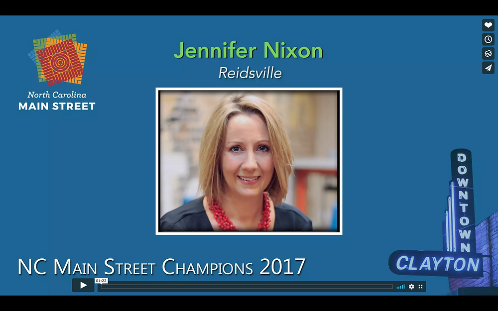 Jennifer Nixon wins NC Main Street Champion