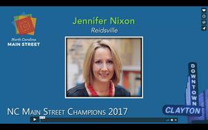 Jennifer Nixon wins NC Main Street Champion