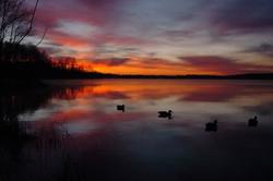 Lake Reidsville at Sunset