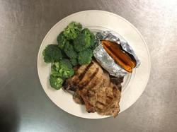Porkchop and sweet potato