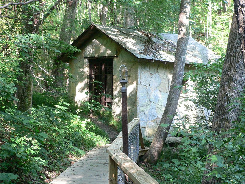 cabin on trail