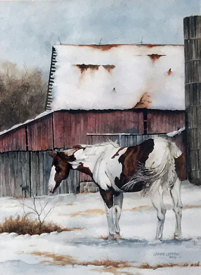 Larry Lefew Winter Horse