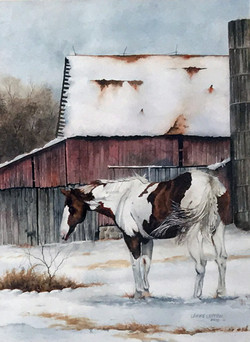 Larry Lefew Winter Horse