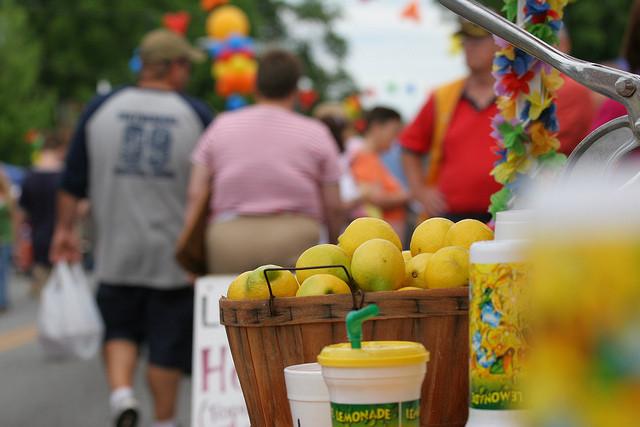 Fresh squeezed lemonade at Mayfest