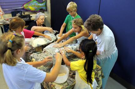 Students at art camp