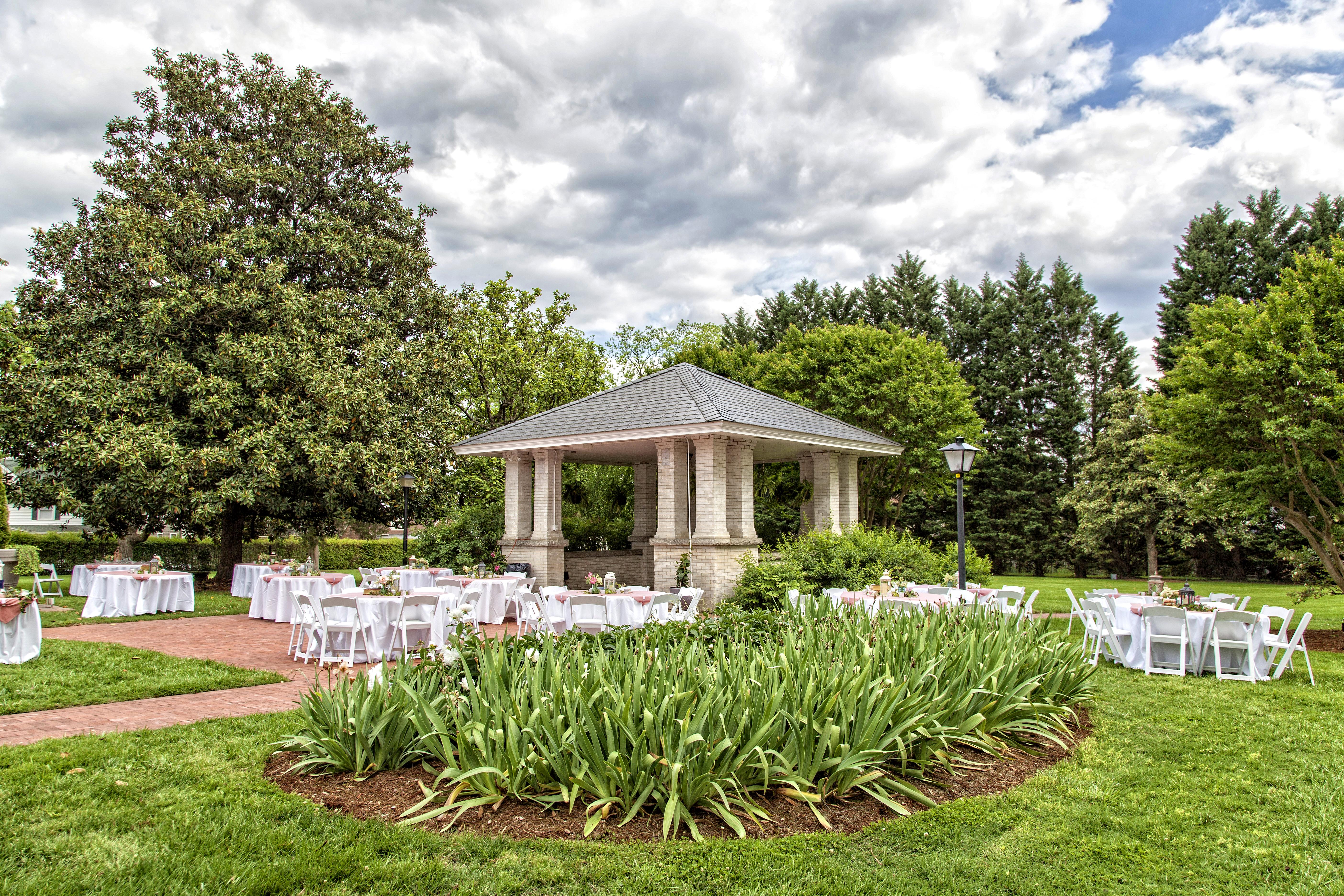 Gazebo for wedding at Penn House