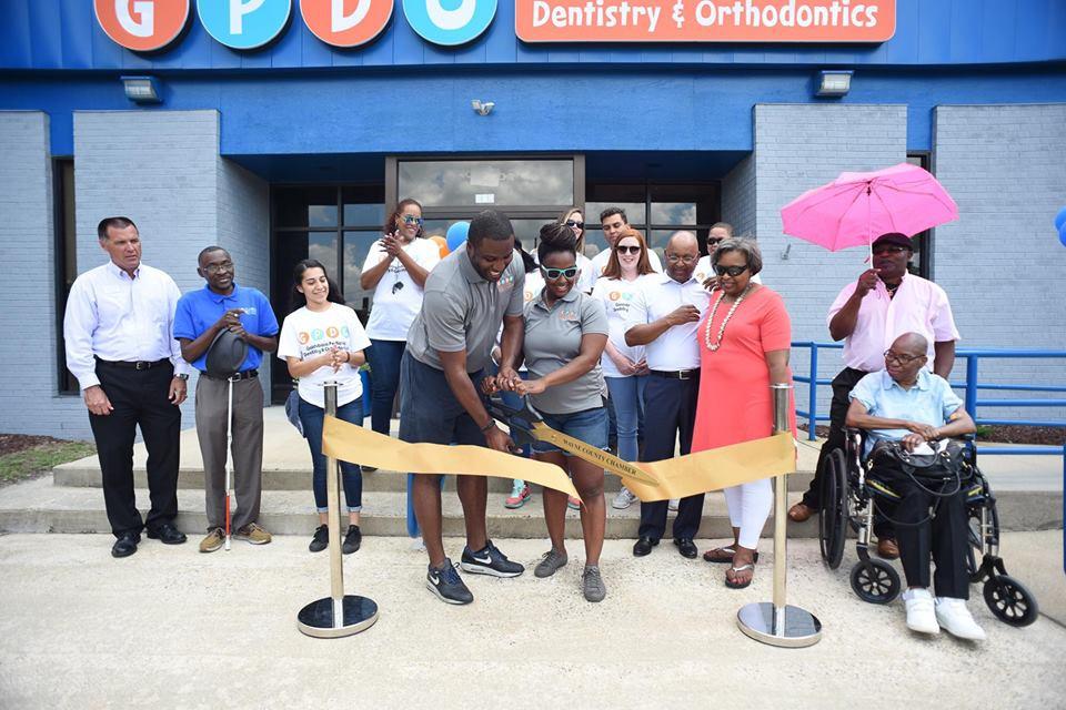 Ribbon cutting for Goldsboro Pediatric Dentistry and Orthodontics