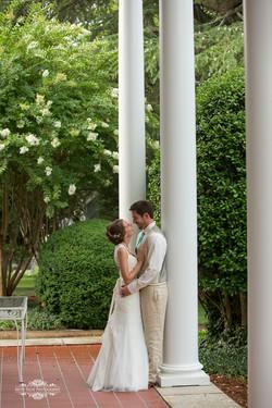 Bride and Groom at Penn House column