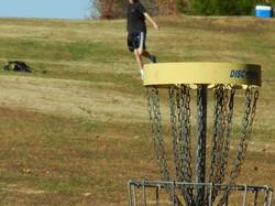 Disc golf close up