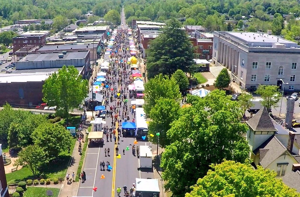 Mayfest spring festival in Rutherfordton, NC