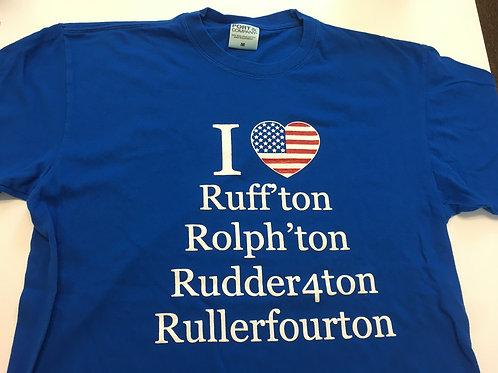 I heart Rutherfordton - Flag Shirt