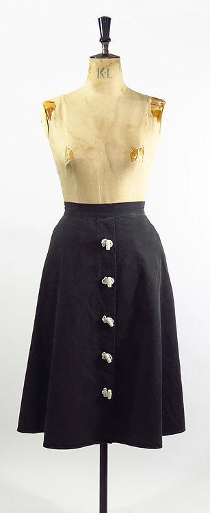 1950s Button Detail Skirt