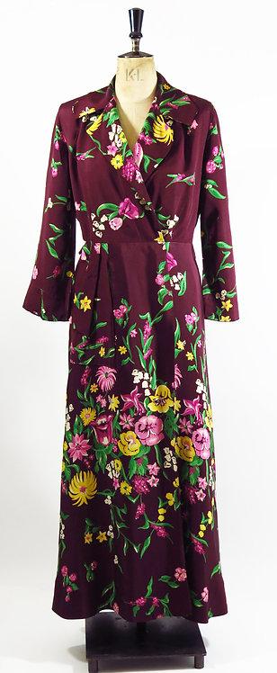 Vintage 1940s House Coat / Dress