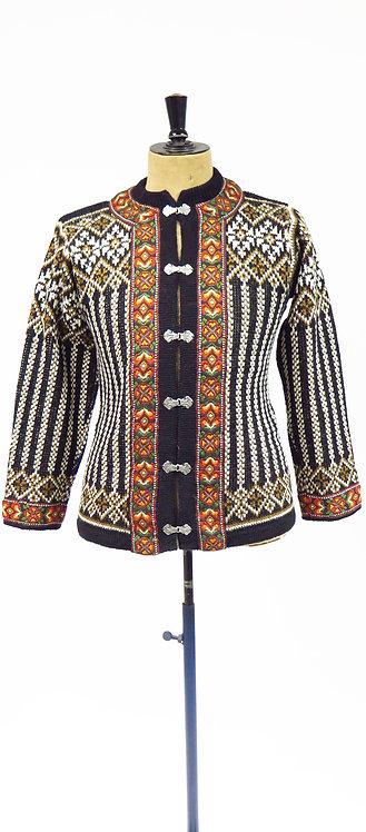 Nordstrikk 1960s-70s Norwegian Knitted Cardigan