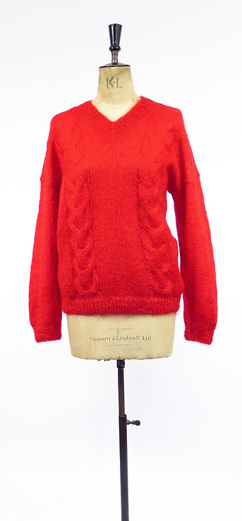 Original Vintage 1980s Hand Knitted Sweater