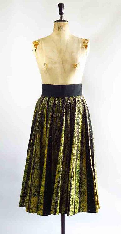 1950s Painted Circle Skirt