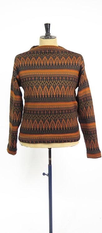 Vintage 1960-70s Norvyk Hand Knitted Norwegian Scandi Style Jumper - L / XL