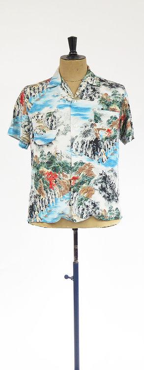 1950s Penney's Rayon Made in Japan Hawaiian Shirt