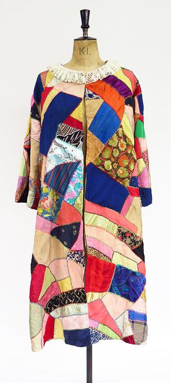 "Museum Quality 1910-40s ""Make Do And Mend"" Robe"