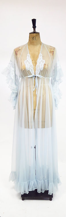1970s Angel Sleeve Lingerie Gown