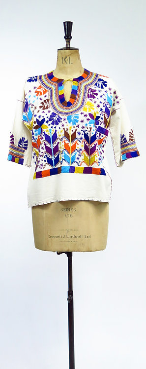 Vintage Hand Embroidered Guatemalan Top