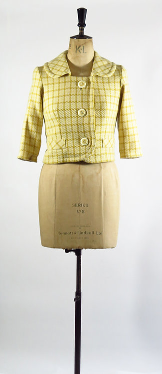 1950s Yellow Checked Jacket