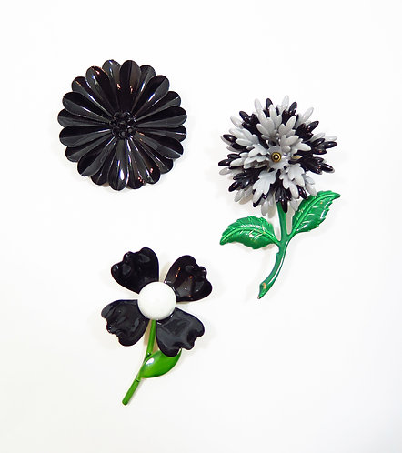 Trio of 1960s Brooches
