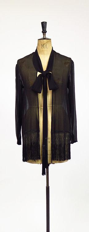 1920s Deco Chiffon Flapper Jacket