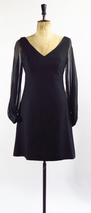 1960's Bell Sleeve Cocktail Dress