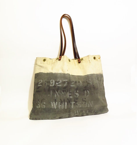 Recycled & Handmade From Army Kit Bag Tote Shopper Bag