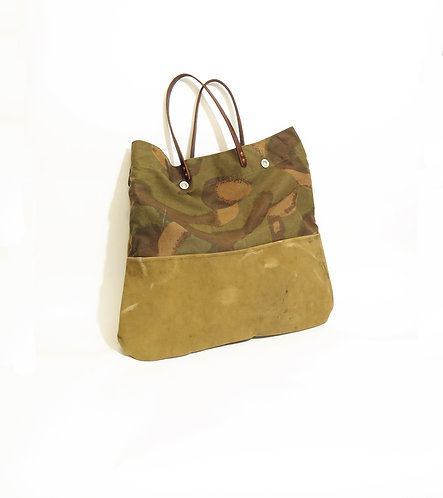 Recycled & Handmade From Army Kit Bag And Tent Tote Shopper Bag