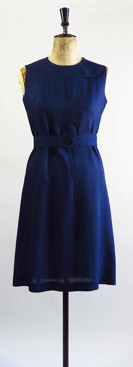 1960s Navy Shift Dress