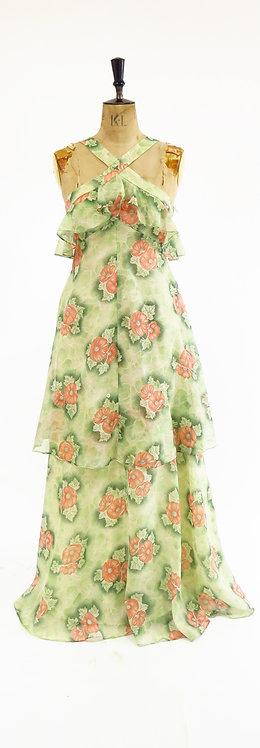 1970s Napkin Style Maxi Dress