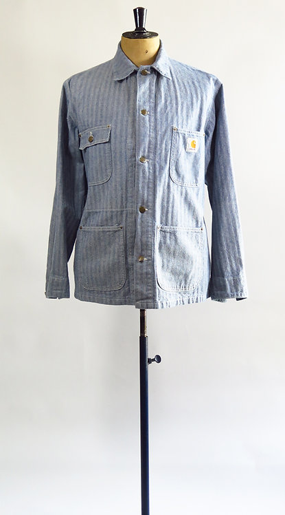 Carhartt Herringbone Denim  Workwear Jacket  L-XL