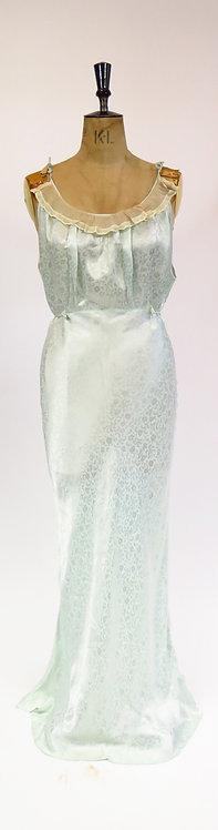 """1930s """"Keystone"""" Mint Green Slip Dress"""
