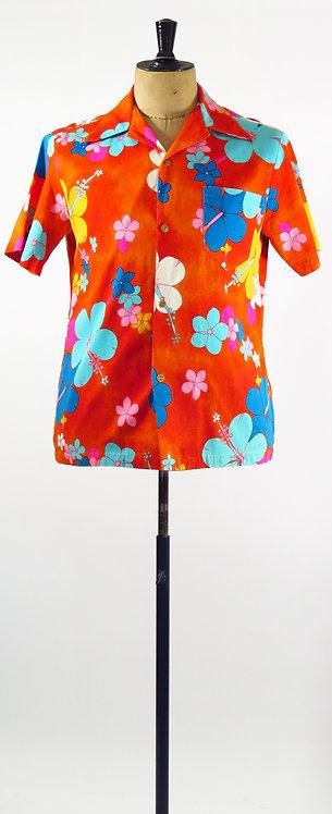 1970s Hawaiian Shirt L