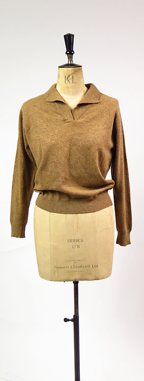 Vintage 1950s Andrew Stewart Lambswool Knitted Jumper
