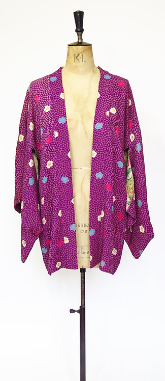 1950s Silk Haori Kimono Jacket