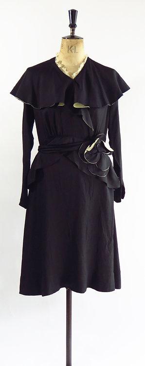 1930s Vintage Floral Wrap Dress