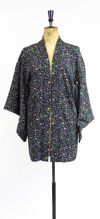 1950s Atomic Floral Print Haori Kimono Jacket